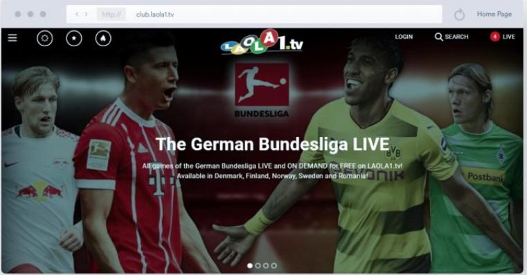 Laola1.TV - Streaming Calcio