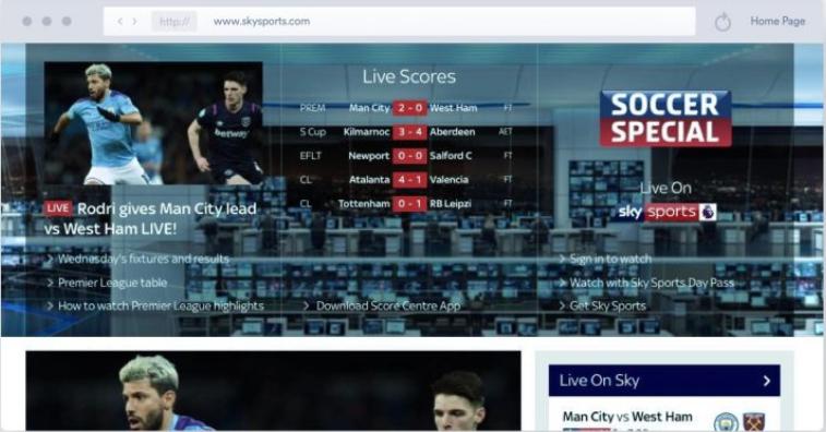 Sky Sports - Streaming Calcio