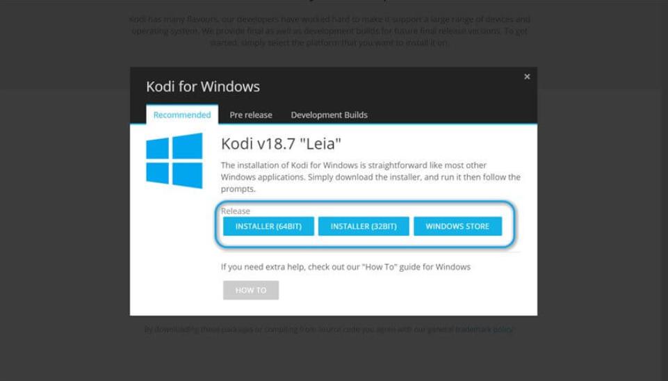 Kodi Per Windows - Cosa rilascia
